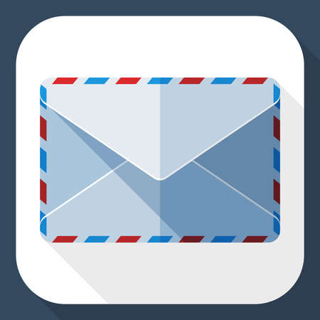 sealed: Sealed envelope icon with long shadow