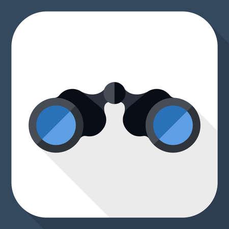 eyepiece: Binoculars icon with long shadow