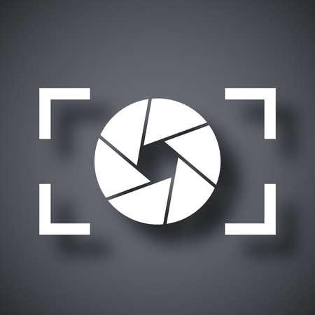 Camera lens icon, stock vector