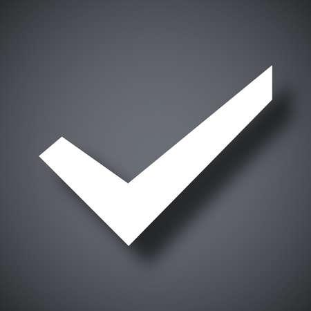 check mark icon: Check mark icon, stock vector