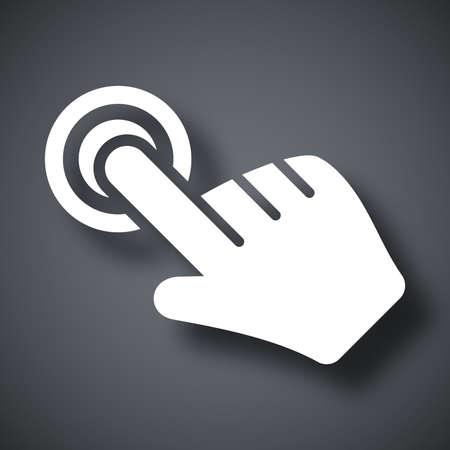 click hand: Click hand cursor icon, vector