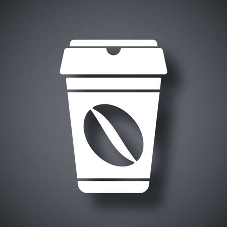 coffee cup icon: Coffee cup icon, vector