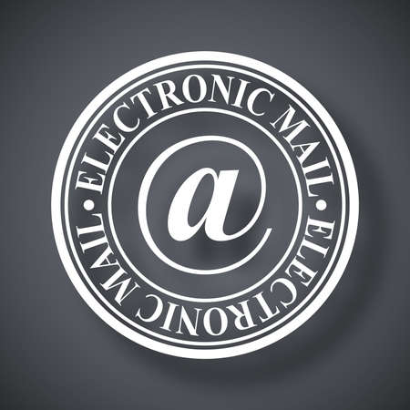 inprint: Electronic mail stamp icon, vector