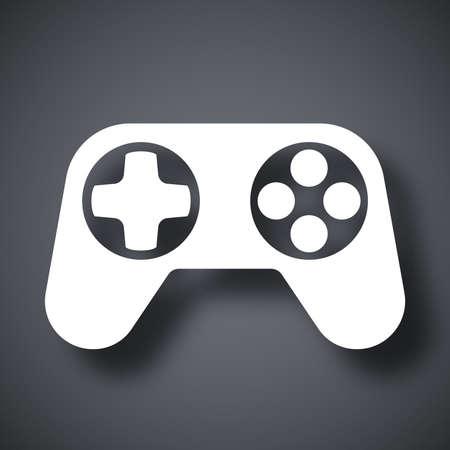 joypad: Gamepad icon, vector Illustration