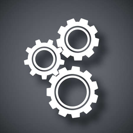 settings: Gears or settings icon, stock vector Illustration