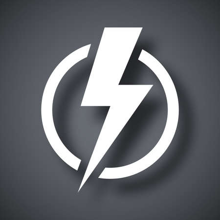 Lightning bolt icon, vector Çizim