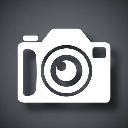 cinematographer: Photo camera icon, stock vector