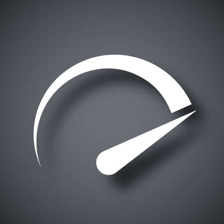 Speedometer icon, vector