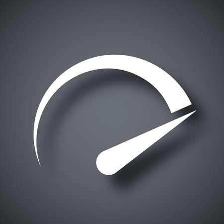 mileage: Speedometer icon, vector
