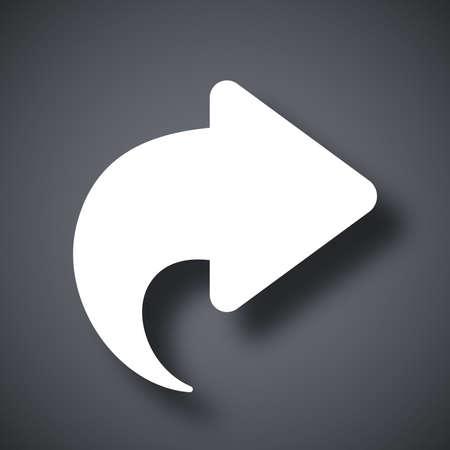 forward icon: Vector arrow forward icon