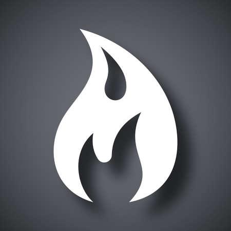 gas barbecue: Vector fire icon Illustration