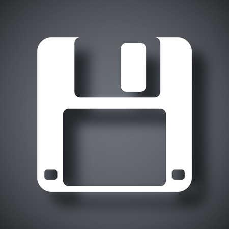Vector floppy disk icon Illustration