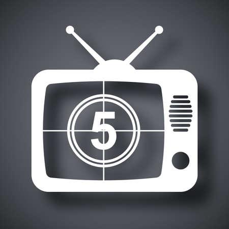 telecast: Vector TV icon