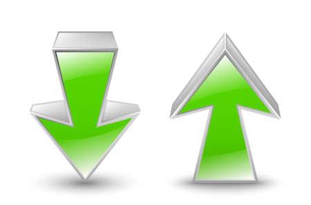 green arrows: Green arrows icon. Vector illustration Illustration
