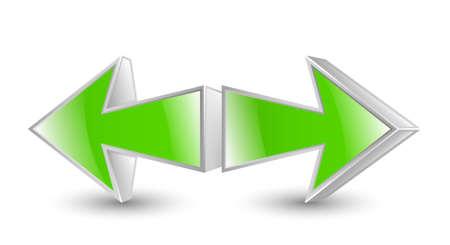 green arrows: Green arrows icon. Vector