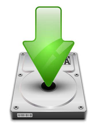 terabyte: Vector download icon Illustration