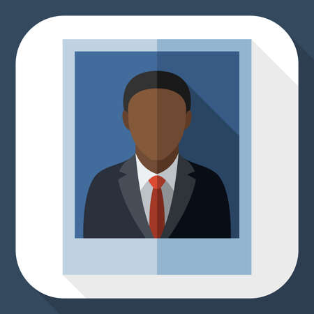 business suit: Picture of a black man in a business suit with long shadow
