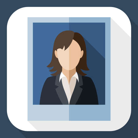 woman business suit: Picture of a woman in a business suit with long shadow