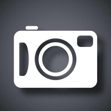 photo camera: Vector macchina fotografica icona
