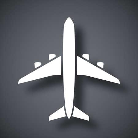 jet: Vector airplane icon