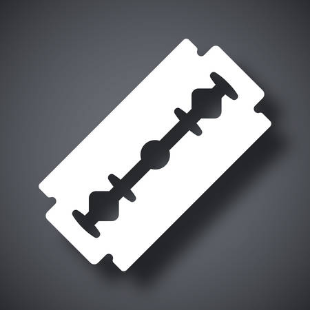 razor blade: Vector razor blade icon