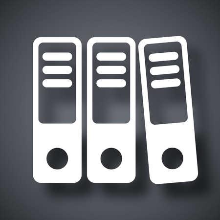 ring binders: Vector ring binders icon