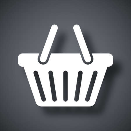 gift basket: Vector shopping basket icon