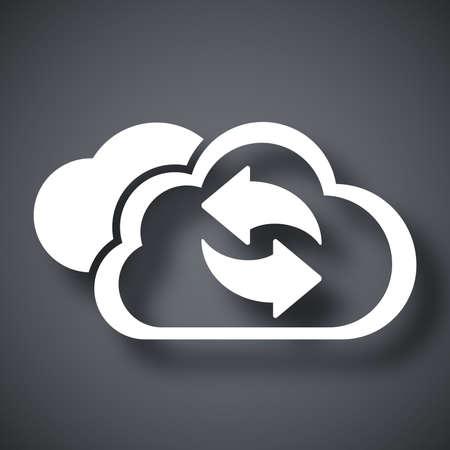 refresh icon: Vector cloud computing refresh icon Illustration