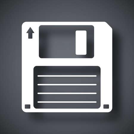 fdd: Vector floppy disk icon Illustration