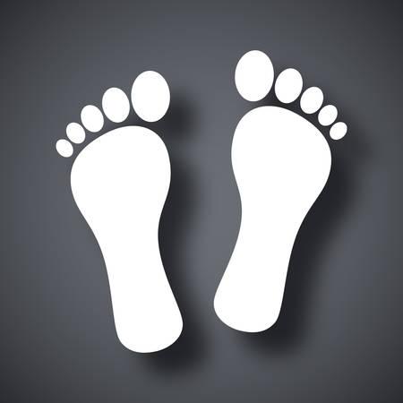 biometrics: Vector footprints icon