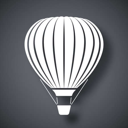 hot: Vector hot air balloon icon