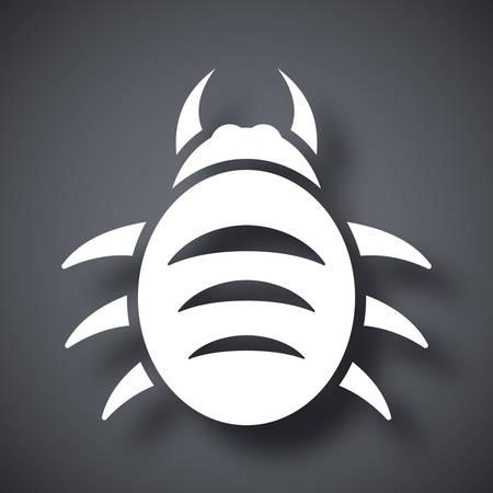 shield bug: Vector bug icon