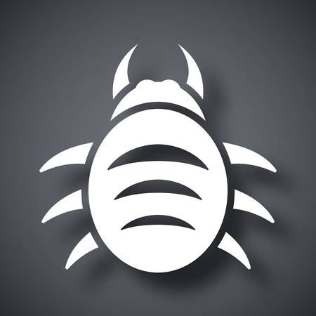 computer virus protection: Vector bug icon