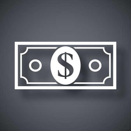 dollar bill: Vector dollar bill icon