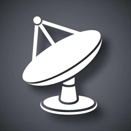 satellite dish: Vector satellite dish icon Illustration