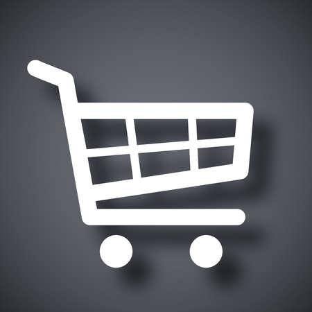 shopping cart icon: Vector shopping cart icon