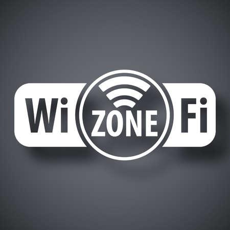 adsl: Vector wifi zone icon