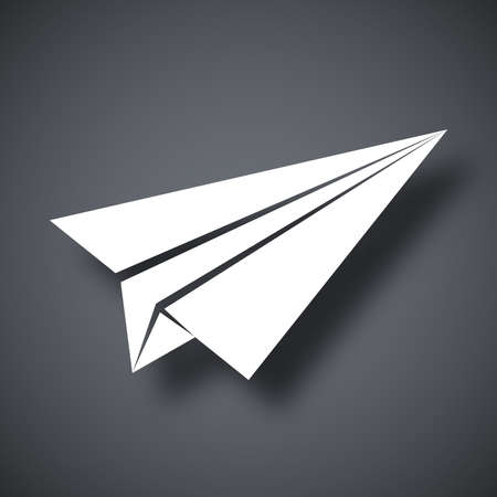 airplane: Vector paper airplane icon