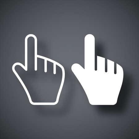 cursors: Vector hand cursors icon Illustration