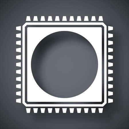 semiconductor: Chip icon, vector