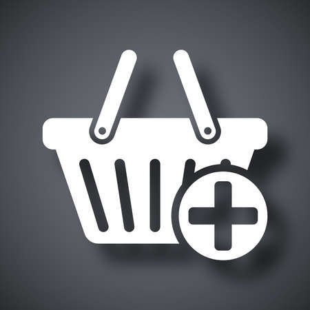 add to basket: Vector add to shopping basket icon