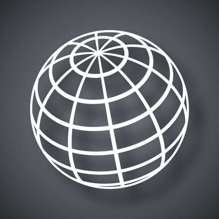 earth globe: Vector global communications icon