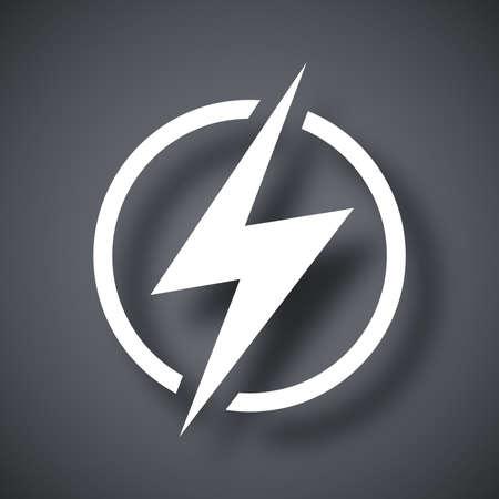 Lightning icon, vector Illustration