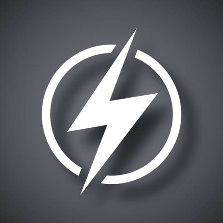 Lightning icon, vector Vectores