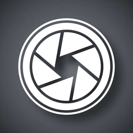 Vecteur lentille de la caméra icône