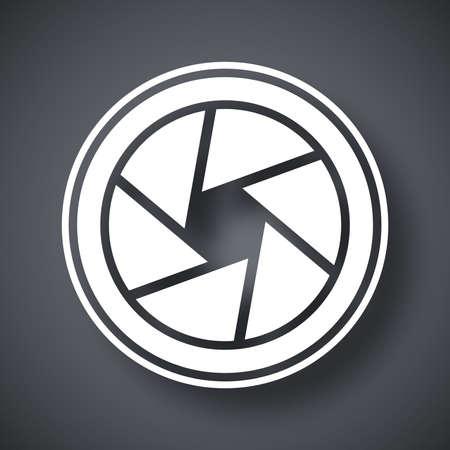 camara de cine: Vector icono de lente de la cámara