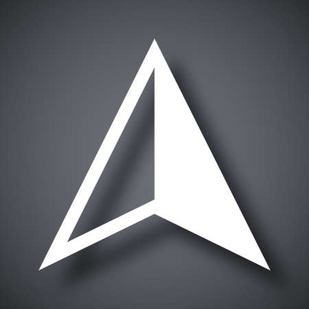 arrow icon: Vector gps arrow icon