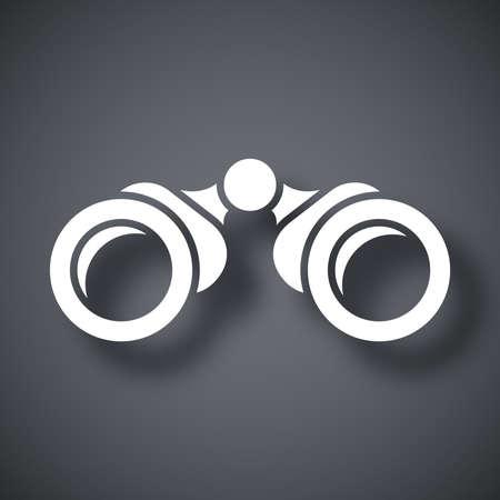 eyepiece: Vector binoculars icon Illustration