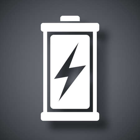 charged: Charged battery icon, vector Illustration