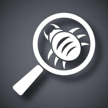 scaner: Vector antivirus scanning icon Illustration